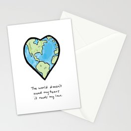 Worldly Love Stationery Cards