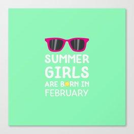Summer Girls in FEBRUARY T-Shirt Dvagd Canvas Print
