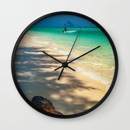 Driftwood On The Beach Wall Clock