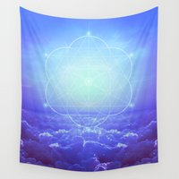 tolkien Wall Tapestries featuring All But the Brightest Stars (Sirius Star Geometric) by soaring anchor designs