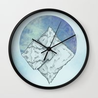 frozen Wall Clocks featuring Frozen by Holly Nekonam