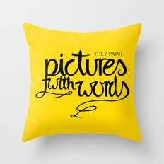 Painted Words Throw Pillow
