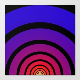 Blue, Red, and Yellow Circles Canvas Print
