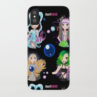 artrave iPhone & iPod Cases featuring #artRAVE Pattern by Aldo Monster