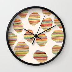 watercolor geometric lines Wall Clock