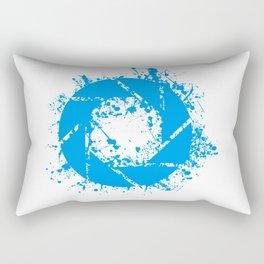 Portal Splatter Logo Rectangular Pillow