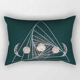 Moon Matrix Rectangular Pillow