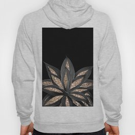 Gray Black Agave with Gold Glitter #1 #shiny #tropical #decor #art #society6 Hoody
