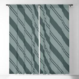 Night Watch PPG1145-7 Thick and Thin Angled Stripes on Scarborough Green PPG1145-5 Blackout Curtain