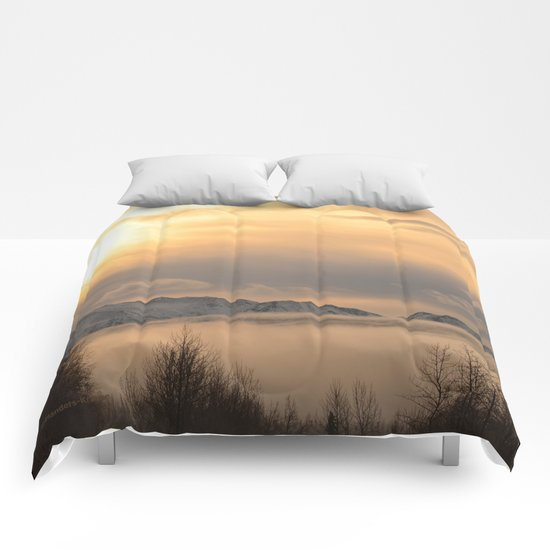 Winter Fog Comforters