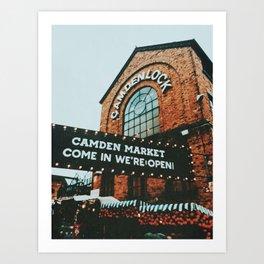 Gloomy day at Camden Lock Art Print