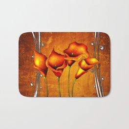 Flower vintage illustration art Bath Mat