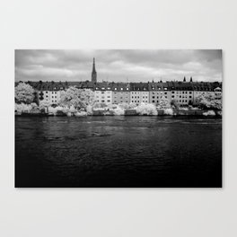 Left bank of the Main River Canvas Print