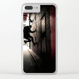 Midnight Crawler Clear iPhone Case