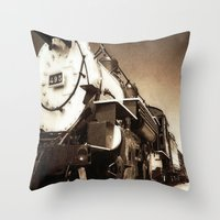 train Throw Pillows featuring Train by SteeleCat