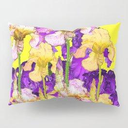 Purple Yellow & Purple Iris Flowers Pillow Sham