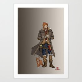 Caleb of the Mighty Nein Art Print