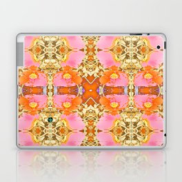 Pink & Orange Poppy 4 Laptop & iPad Skin
