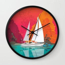 Sailing to Delos Wall Clock