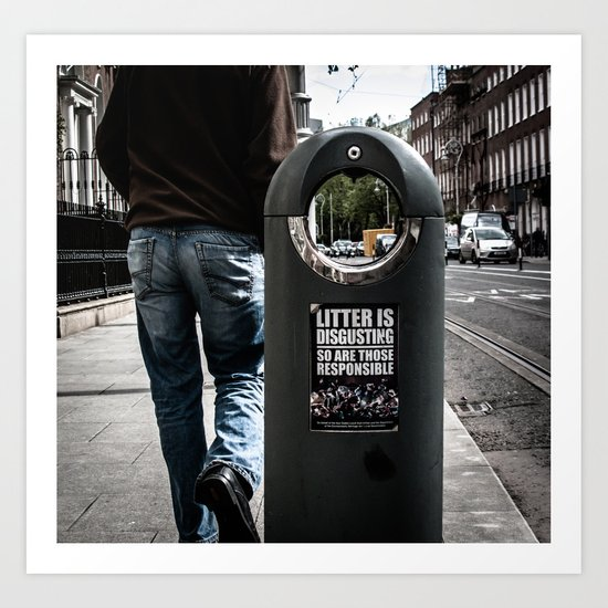 Littering is disgusting... so are those responsible  Art Print