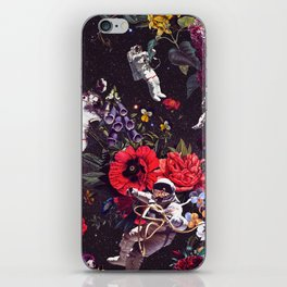Flowers and Astronauts iPhone Skin