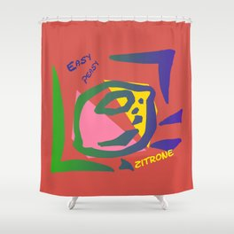 Esay Zitrone Shower Curtain
