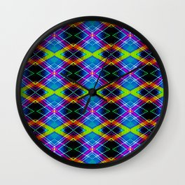 SBS Plaid Wall Clock