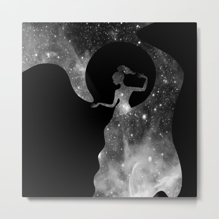 Galaxy From Within BNW Metal Print