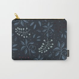 Leaves in a blue background Carry-All Pouch