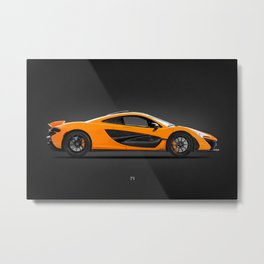 The P1 Supercar Metal Print