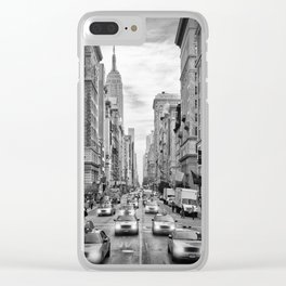 NEW YORK CITY 5th Avenue Traffic | Monochrome Clear iPhone Case