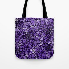 Purple Tangle Design Tote Bag