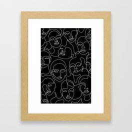 Expression In Dark Framed Art Print