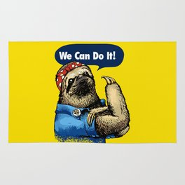 We Can Do It Sloth Rug