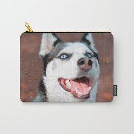 Siberian Husky dog face Carry-All Pouch