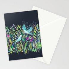 Little Garden Birds in Watercolor Stationery Cards