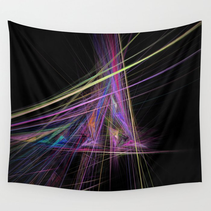 Bursting Fractal Triangle Wall Tapestry