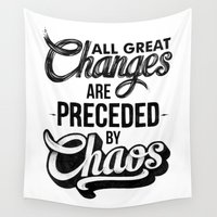 chaos Wall Tapestries featuring CHAOS by Thiago Bianchini