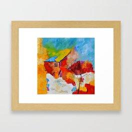 House and tree Framed Art Print