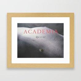 """Sign No. 11: """"Academia, qui es-tu?"""" École des Beaux-Arts in Paris (2008) Framed Art Print"""