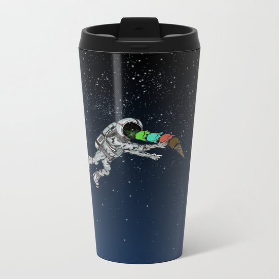 Spacetime Sadness Metal Travel Mug