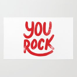 You Rock Vintage Red Rug