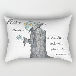 Follow Me, says the Vampire Rectangular Pillow