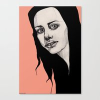 lip Canvas Prints featuring Lip Ring by fossilized