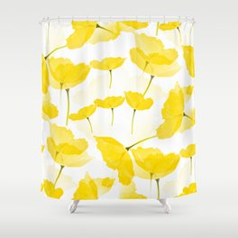 Light Yellow Poppies Spring Summer Mood #decor #society6 #buyart Shower Curtain