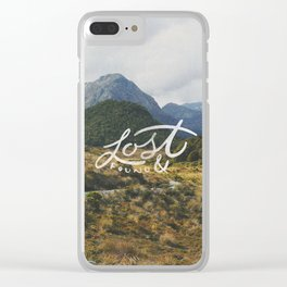 Lost & Found Clear iPhone Case