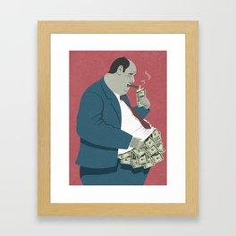money belly Framed Art Print