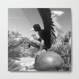 """The """"Wings of the City"""" sculpture exhibit by Mexican Artist Jorge Marín 3 Metal Print"""