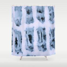 Snow Pattern Shower Curtain