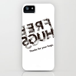 Hug back iPhone Case